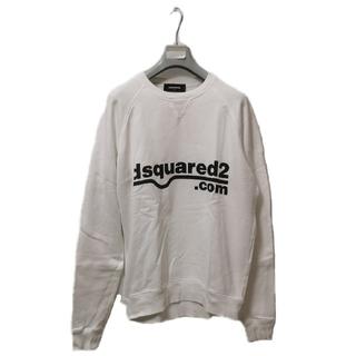 ディースクエアード(DSQUARED2)のディースクエアード ロゴデザイン スウェット ホワイト(スウェット)
