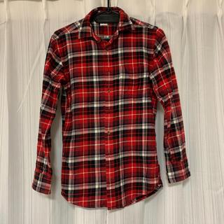 ユニクロ(UNIQLO)の【美品】UNIQLO ユニクロ メンズ チェックシャツ 長袖 ネルシャツ(シャツ)
