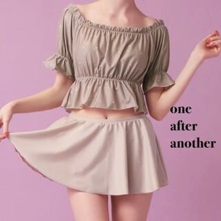 ワンアフターアナザーナイスクラップ(one after another NICE CLAUP)の新品 one after another スカート付スイムウェア(水着)