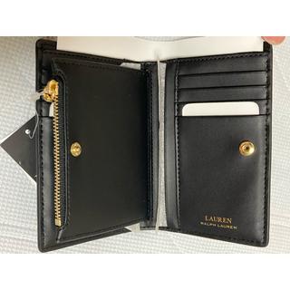 ポロラルフローレン(POLO RALPH LAUREN)の新品未使用 正規品 ポロ ラルフローレン 二つ折り財布 ジップ レザー ブラック(財布)