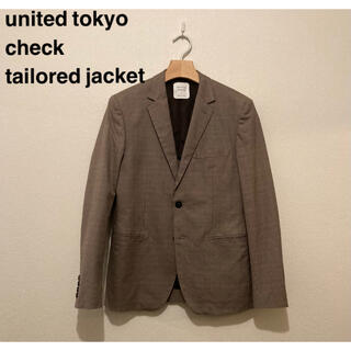 united tokyo check tailored jacket