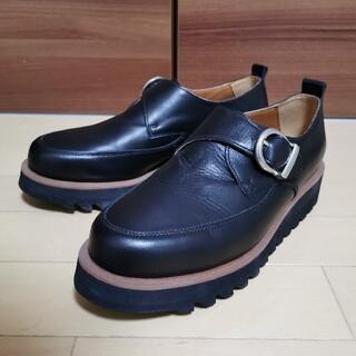 ハレ(HARE)のhare シャークソールシングルモンクシューズ 身長アップ大人の靴 ベルトメンズ(ドレス/ビジネス)