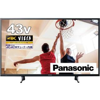 Panasonic - パナソニック 43V型 4Kダブルチューナー内蔵 液晶 テレビ VIERA