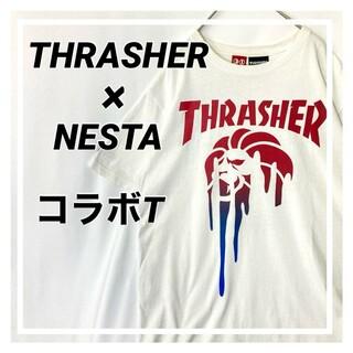 スラッシャー(THRASHER)の【限定コラボ】NESTA THRASHER コラボTシャツ Mサイズ 白(Tシャツ/カットソー(半袖/袖なし))