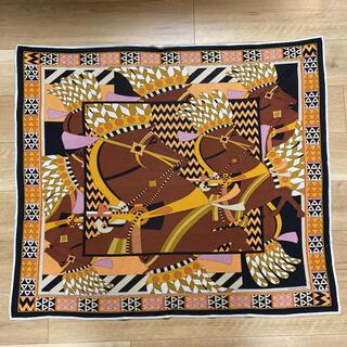 Hermes - レア柄 エルメス スカーフ シルクジャージー スムーズ・カレ カルナック神殿の馬