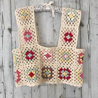 Lochie - handmade granny square bustier
