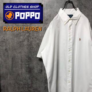 Ralph Lauren - ラルフローレン☆ワンポイント刺繍カラーポニー半袖ボタンダウンシャツ 90s