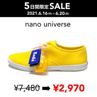 ナノユニバース(nano・universe)のSALE 【新品箱付】Keds別注 CHAMPION OXFORD イエロー(スニーカー)