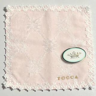 トッカ(TOCCA)の新品 TOCCA トッカ  ピンク ミニ タオル ハンカチ(ハンカチ)