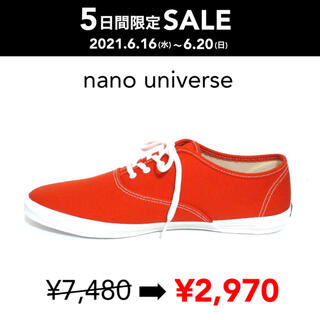ナノユニバース(nano・universe)のSALE 【新品箱付】Keds別注 CHAMPION OXFORD レッド(スニーカー)