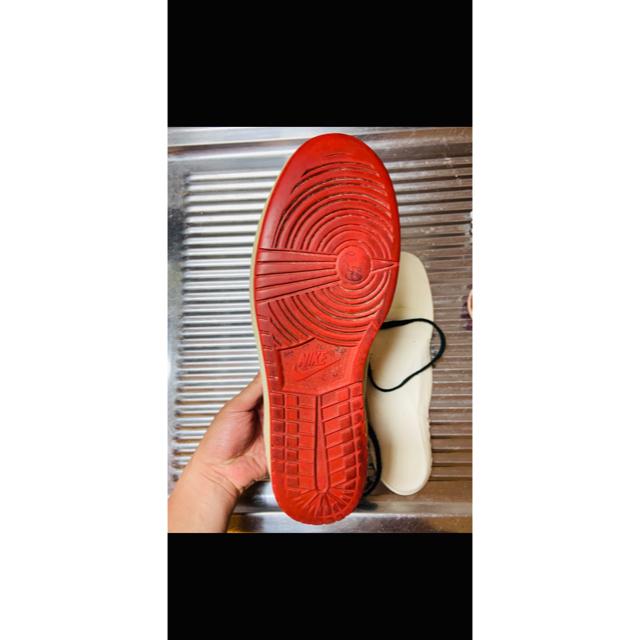 NIKE(ナイキ)の鑑定済み NIKE ジョーダン1 シカゴ 1985年 美品 オリジナル メンズの靴/シューズ(スニーカー)の商品写真