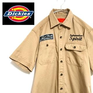Dickies - Dickies ディッキーズ 半袖 ワークシャツ M ベージュ