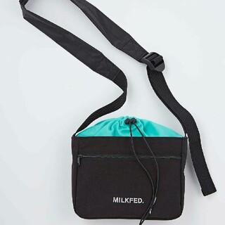 ミルクフェド(MILKFED.)のMILKFED.外ポケット付きショルダーバッグ(ショルダーバッグ)
