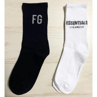 二足セット FG essentials ソックス 靴下 ブラック ホワイト