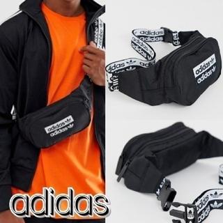 アディダス(adidas)のadidas オリジナルス ロゴ ボディバッグ 黒 メンズ レディース(ボディーバッグ)