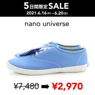 ナノユニバース(nano・universe)のSALE 【新品箱付】Keds別注 CHAMPION OXFORD ブルー(スニーカー)