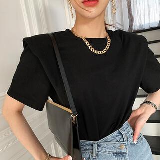ZARA - オシャレTシャツ 半袖 トップス 個性的 韓国ファッション 夏 モノトーン