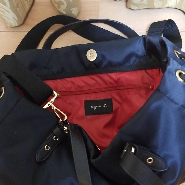 agnes b.(アニエスベー)の【美品】agnes b. アニエスベー 2wayバッグ ネイビー トートバッグ レディースのバッグ(ショルダーバッグ)の商品写真