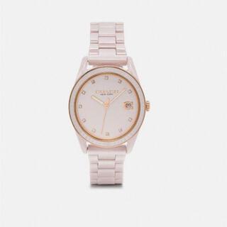 コーチ(COACH)の(定価6.3万円)COACH レディース腕時計 ホワイト(腕時計)
