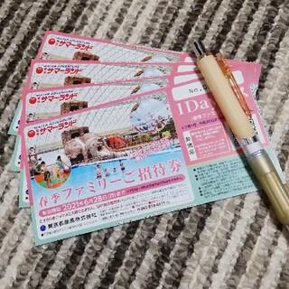 招待券(フリーパス)×4枚 東京都競馬(東京サマーランド) 株主優待(その他)