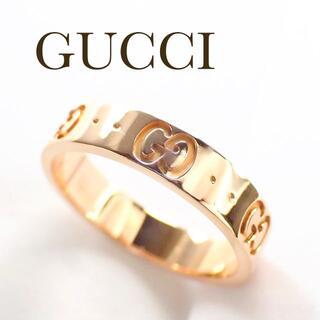 Gucci - グッチ GUCCI K18PG アイコン リング 11号 ピンクゴールド