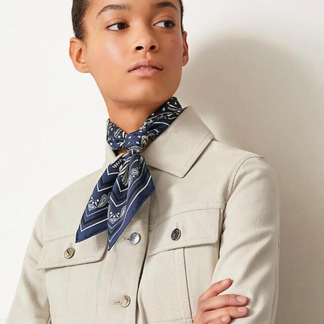 Hermes(エルメス)の【新品未使用】エルメス バンダナ 55 ネイビー レディースのファッション小物(バンダナ/スカーフ)の商品写真