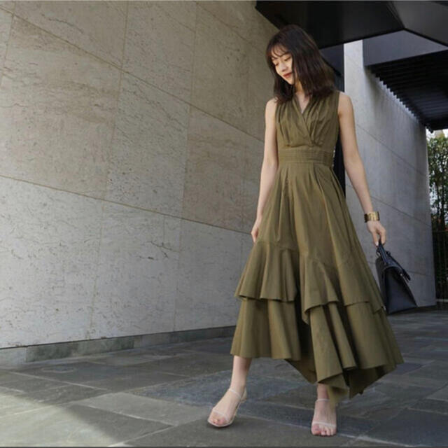 snidel(スナイデル)のVolume Shirt Dress 完売品 M レディースのワンピース(ロングワンピース/マキシワンピース)の商品写真