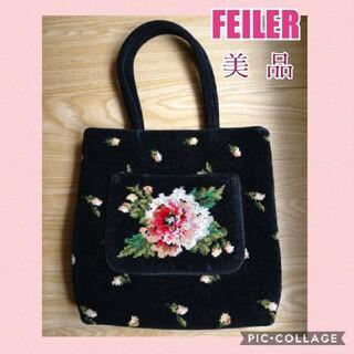 FEILER - ✨ FEILER ✨  フェイラー サブバッグ トートバッグピンク 黒 薔薇