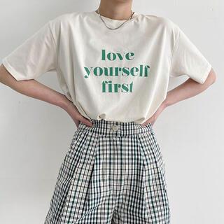 nugu 韓国 love your self Tシャツ