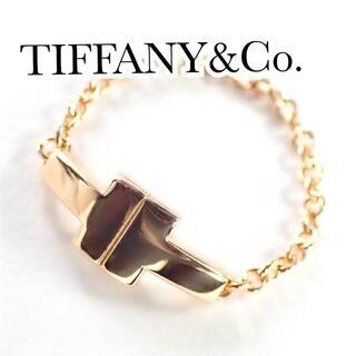 ティファニー(Tiffany & Co.)のティファニー TIFFANY K18PG T TOW リング チェーン 2号(リング(指輪))