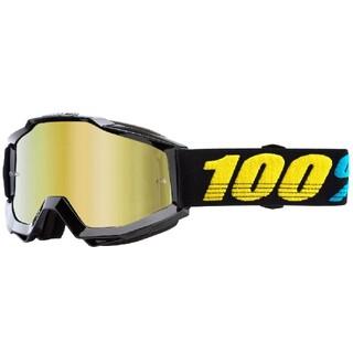 100% Accuri MX ゴーグルミラーゴールドレンズ Virgo(装備/装具)