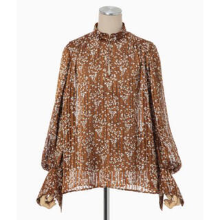 mame - mame Flower Hand-Printed Crepe Blouse