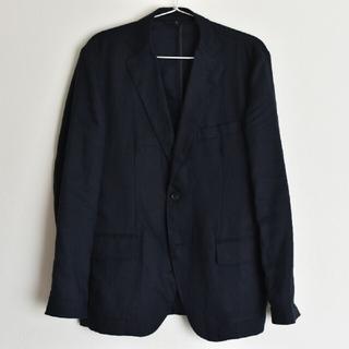 MUJI (無印良品) - 美品 無印良品 MUJI フレンチリネンジャケット S ネイビー 麻 100%