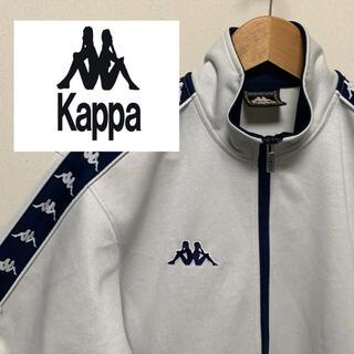 カッパ(Kappa)の【kappa】90sトラックジャージ ホワイト×ネイビー KA3114(その他)