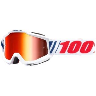 100% Accuri MX ゴーグルミラーレッドレンズ AF066(装備/装具)