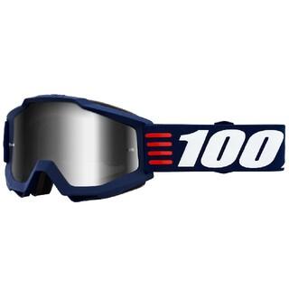 100% Accuri MX ゴーグルミラーシルバーレンズArt Deco(装備/装具)