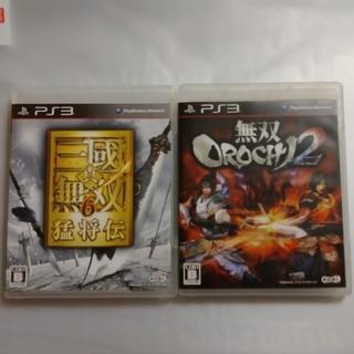 プレイステーション3(PlayStation3)の【最終値下げ!】真三國無双6 猛将伝、無双OROCHI2 PS3(その他)