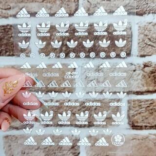 adidas スポーツロゴ ネイルシール