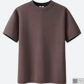 ユニクロ(UNIQLO)のユニクロU コットンクルーネックセーター 2018SS 半袖(Tシャツ/カットソー(半袖/袖なし))