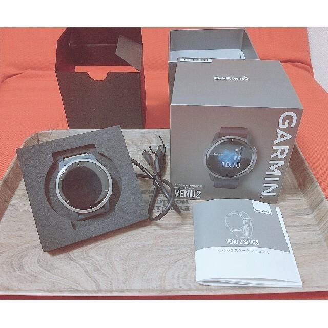 GARMIN(ガーミン)のGARMIN スマートウォッチ Venu2 Granite Blue/Silve メンズの時計(腕時計(デジタル))の商品写真
