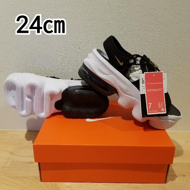 NIKE(ナイキ)のNIKE エアマックス ココ サンダル ブラック/メタリックゴールド 24㎝ レディースの靴/シューズ(サンダル)の商品写真