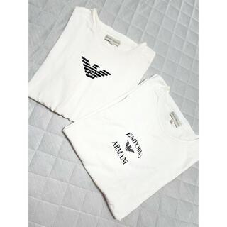 Emporio Armani - アルマーニ 半袖Tシャツ ロゴ 2枚セット 白T ユニセックス