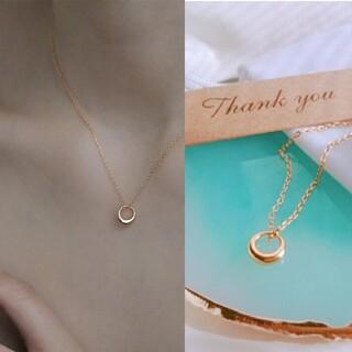 エテ(ete)のs925 small  gold ring necklace #023(ネックレス)