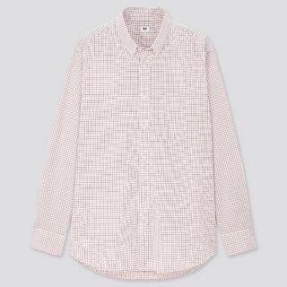 ユニクロ(UNIQLO)のエクストラファインコットンブロードチェックシャツ(ボタンダウンカラー・長袖)(シャツ)