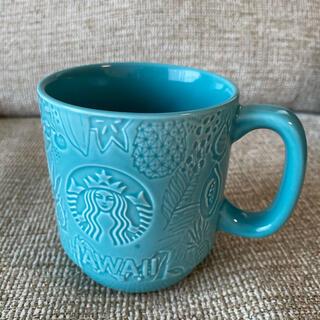 スターバックスコーヒー(Starbucks Coffee)のレア☆入手困難 ハワイ限定 スタバ 陶器マグカップ ブルー ウミガメ(グラス/カップ)
