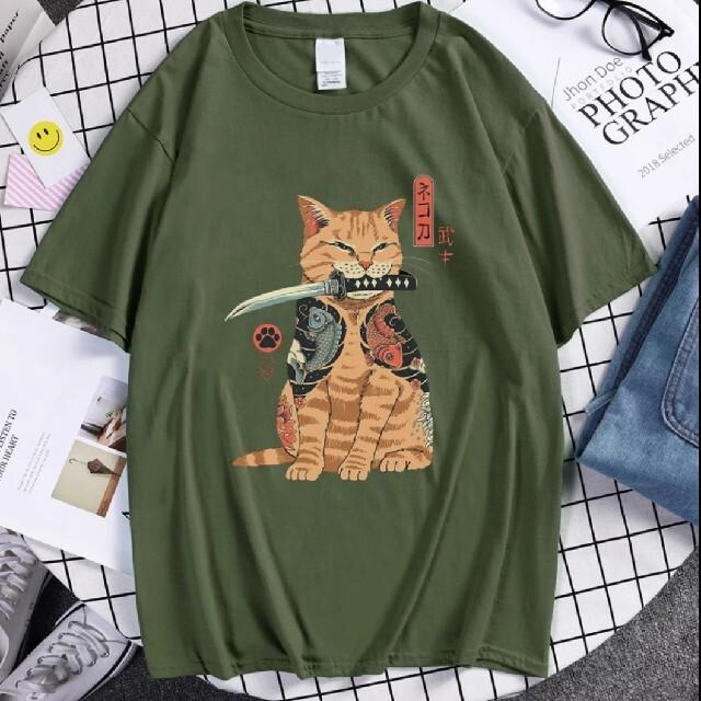 不良ぬこ tシャツ  size XL メンズのトップス(Tシャツ/カットソー(半袖/袖なし))の商品写真