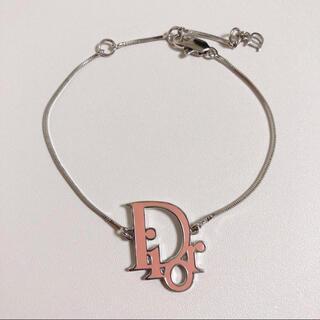 Christian Dior - Christian Dior ディオール ロゴ ブレスレット ピンク美品