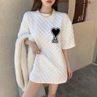 大人気♥ハートエース Tシャツ 韓国 レディース オーバーサイズ トップスb5