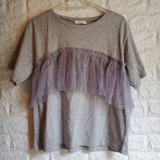 アースミュージックアンドエコロジー(earth music & ecology)の新品 フロントチュールTシャツ(Tシャツ(半袖/袖なし))
