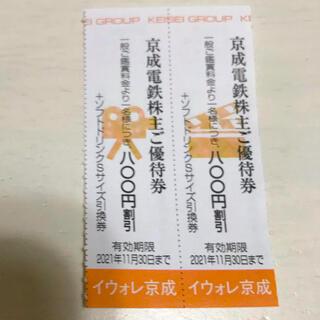 京成ローザ 映画観賞割引券 株主優待券 2枚 2021年11月30日まで(その他)